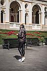 Комбинированный Пуховик С Мехом Козлика Темный Графит 025ТП, фото 7