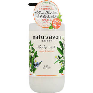 KOSE Natu Savon Освежающий гель для душа с ароматом яблока и жасмина, 500 мл