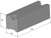 Фундаментные блоки ФБС 24.3.6Т
