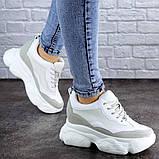 Женские стильные кроссовки на танкетке Fashion Pelusa 2066 37 размер 23,5 см Белый Размер 37 - 23,5 см, фото 2