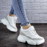 Женские стильные кроссовки на танкетке Fashion Pelusa 2066 37 размер 23,5 см Белый Размер 37 - 23,5 см, фото 4