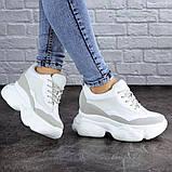 Женские стильные кроссовки на танкетке Fashion Pelusa 2066 37 размер 23,5 см Белый Размер 37 - 23,5 см, фото 5