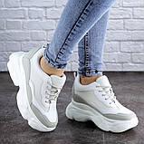 Женские стильные кроссовки на танкетке Fashion Pelusa 2066 37 размер 23,5 см Белый Размер 37 - 23,5 см, фото 7