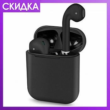 Беспроводная гарнитура  i120 - tws 5.0 Black Edition с микрофоном (Черные) HQ68BK
