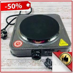 Электрическая Плитка Дисковая Domotec MS-5811, электро плита настольная кухонная