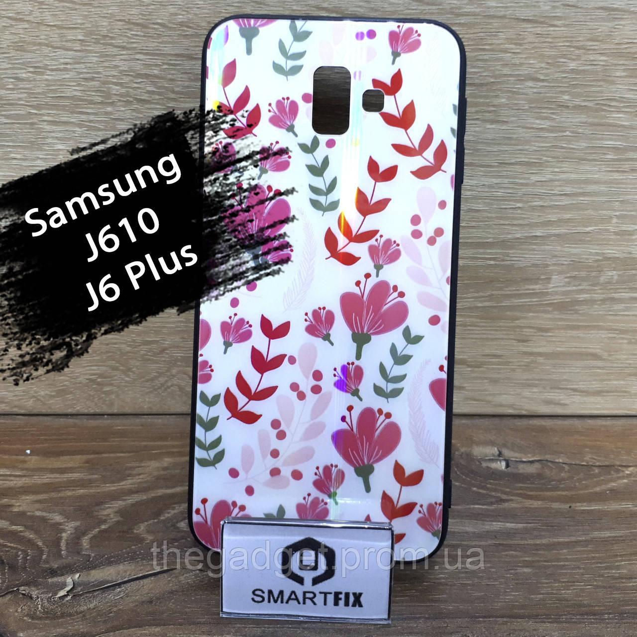 Чехол с рисунком для Samsung J6 Plus / J610
