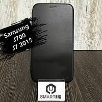 Чохол книжка для Samsung J7 2015 (J700) Чорний