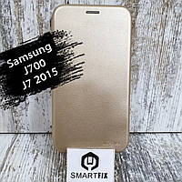 Чохол книжка для Samsung J7 2015 (J700) Золотий