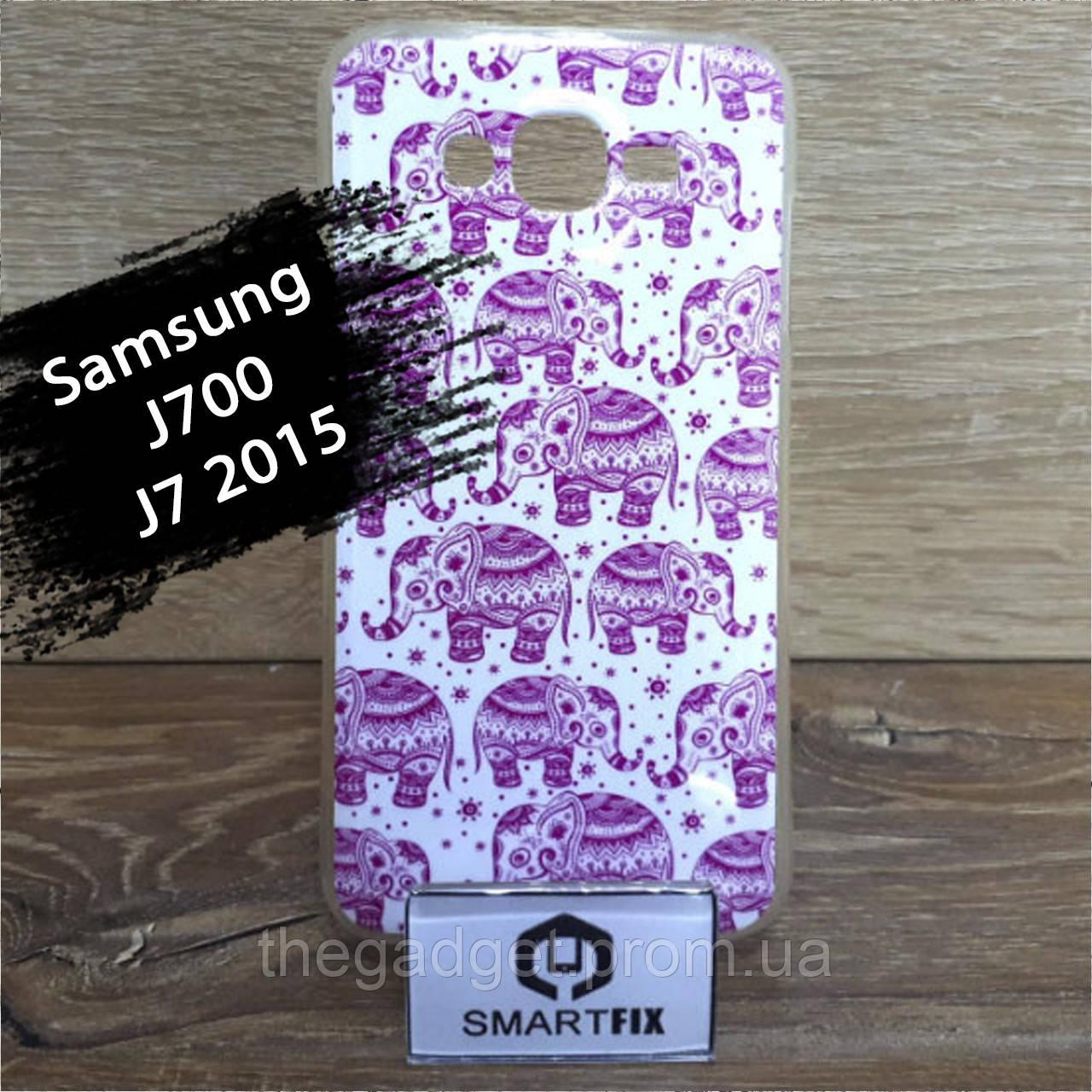 Чехол с рисунком для Samsung J7 2015  (J700)