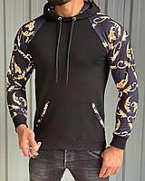 Мужская кофта толстовка M497 черная