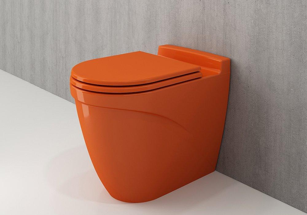 Унитаз напольный Bocchi TAORMINA ARCH глянцевый оранжевый + сиденья дюропластовое (1016-012-0129+А300-012)