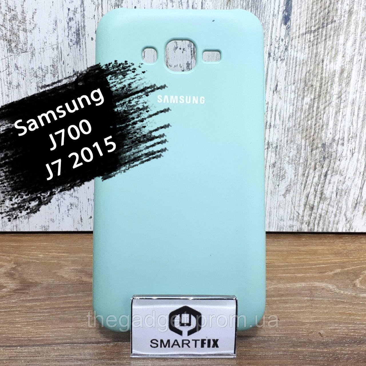 Силиконовый чехол для Samsung J7 2015  (J700) Soft Бирюзовый