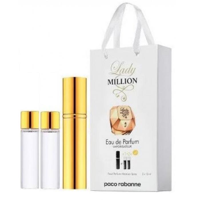 Мини-парфюм с феромонами женский Paco Rabanne Lady Miillion 3х15 мл