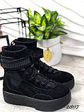 Черные ботинки из натуральной замши с терм носком внутри, фото 4