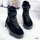 Черные ботинки из натуральной замши с терм носком внутри, фото 2