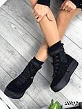 Черные ботинки из натуральной замши с терм носком внутри, фото 3