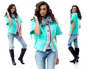 Женская куртка пол рукава с мехом, фото 3