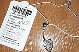"""Серебрянный пирсинг """"Сердце"""", инкрустация камнями, покрыто родием, фото 6"""