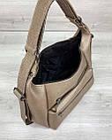 Стильный молодежный сумка-рюкзак женский городской повседневный «Голди» золотой, фото 5