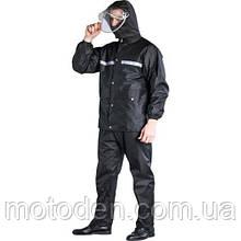 Дождевик раздельный черный для мотоцикла, велосипеда, активного отдыха, работы M