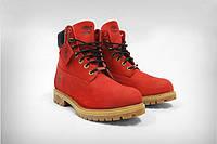 Женские ботинки Timberland красные, фото 1