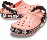 Кроксы летние Crocs Bayaband  Clog дыня/цветочный 38 р., фото 1