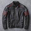 Harley с вышивкой черепа мужская короткая кожаная куртка мотоциклетная куртка