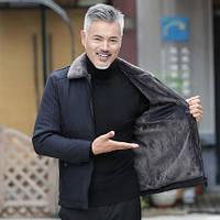 Мужская куртка среднего возраста плюс утолщенние зимняя, фото 1