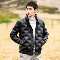 Зимний легкий пуховик, мужская короткая теплая куртка с воротником-стойкой, фото 1