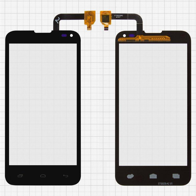 Сенсорный экран (тачскрин) Fly IQ4415 Era Style 3 чёрный