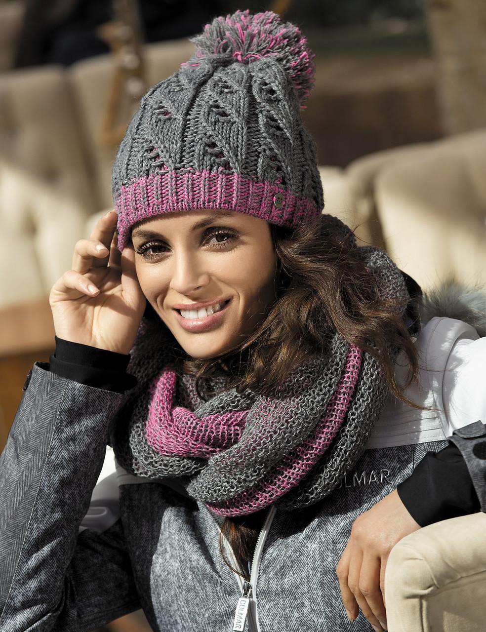 Гарна тепла ажурна шапка від Kamea - Catrina.