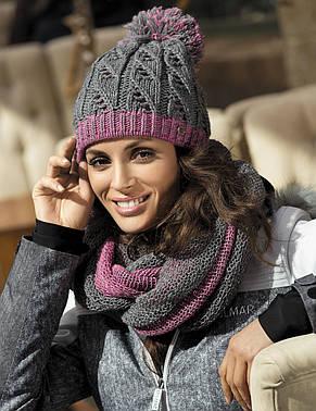 Гарна тепла ажурна шапка від Kamea - Catrina., фото 2