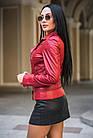 Куртка - Косуха Кожаная Коралл Укороченная 089МК, фото 4