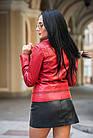 Куртка - Косуха Кожаная Коралл Укороченная 089МК, фото 3