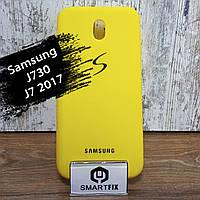 Силиконовый чехол для Samsung J7 2017 (J730) Жельтый, фото 1