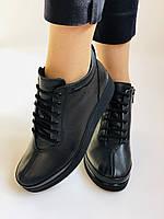 Жіночі черевики. На середній танкетці. Натуральна шкіра.Висока якість.Туреччина.Аlvito. Р. 37,38,39,41., фото 6