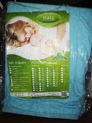 Наматрасник VIALL. Дышащий, непромокаемый, цвет голубой 190*120 см, фото 2