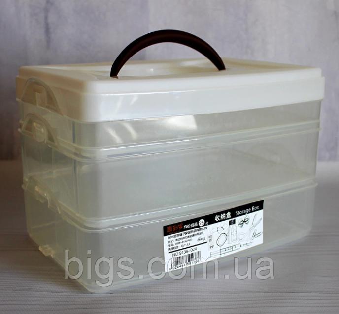 Ланч бокс контейнер для еды на 3 секции