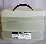 Ланч бокс контейнер для еды на 3 секции, фото 5