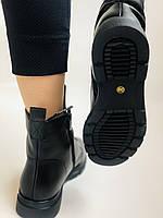 Натуральне хутро. Зимові чоботи на плоскій підошві. Натуральна шкіра. Люкс якість. Molka. Р. 37. Vellena, фото 4