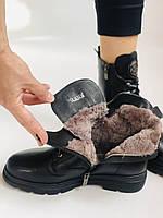 Натуральный мех. Зимние ботинки на плоской подошве. Натуральная кожа. Люкс качество. Molka. Р. 37. Vellena, фото 10