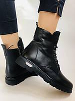 Натуральне хутро. Зимові чоботи на плоскій підошві. Натуральна шкіра. Люкс якість. Molka. Р. 37. Vellena, фото 3
