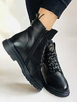 Натуральный мех. Зимние ботинки на плоской подошве. Натуральная кожа. Люкс качество. Molka. Р. 37. Vellena, фото 5