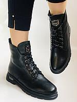 Натуральне хутро. Зимові чоботи на плоскій підошві. Натуральна шкіра. Люкс якість. Molka. Р. 37. Vellena, фото 7