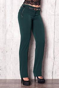 Стильные брюки темно-зеленого цвета 42р. (Код BR-351 )