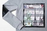Свитшот (реглан) для девочки SmileTime Paris Spring, светло-серый, фото 3
