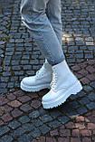 🔥 Ботинки женские демисезонные Dr.Martens Jadon полностью белые доктор мартенс мартнсы джейдон, фото 6