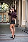 Куртка Кожаная  Стеганая Шанель Вишня 088МК, фото 8