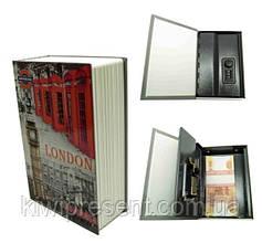 Книга сейф с кодовым замком 24 см Лондон Италия Мэрилин Монро