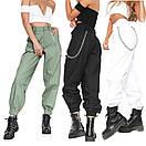 Женские штаны джоггеры милитари с цепочкой р. единый 42-44 68bu524, фото 5